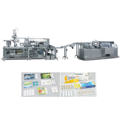 High Speed Alu PVC Blister Packing Machine And Automatic Cartoning Machine Production Line