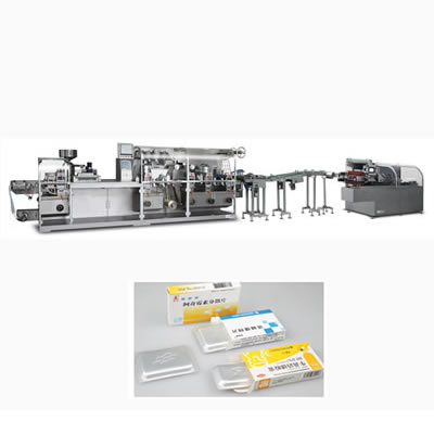Cantilever Style Flat-plate Blister Packing Machine And Automatic Cartoning Machine production Line