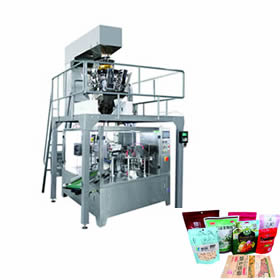 Pre-made bag rotary packing machine unit